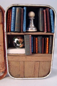 """Tiny Library Filled with Wee Books and a Deep, Dark, Secret,""  Artist, TheMistressT.  Accessed 10 February 2013."