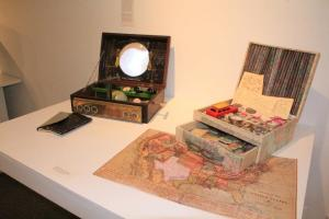 "From the Mount Ida College Gallery Book Art Exhibit, ""Visions from Afar"""