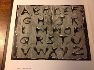 Water Alphabet, 1998 Abelardo Morell
