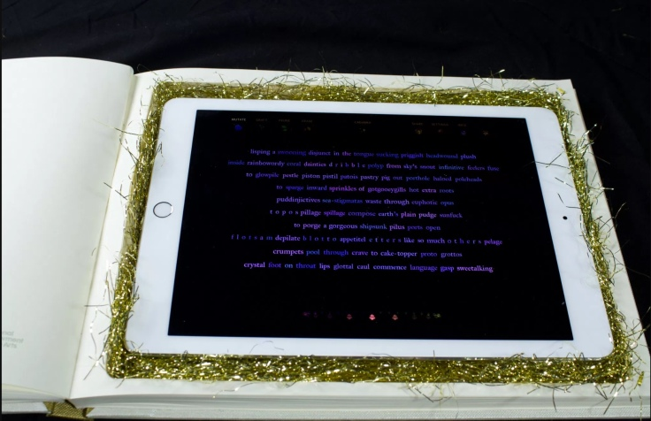 "At the end of the book, the iPad is revealed, and the reader can make Abra their own using the menu at the top of the screen to ""Mutate,"" ""Erase,"" ""Graft,"" ""Prune,"" and cast an unpredictable ""Cadabra"" spell."