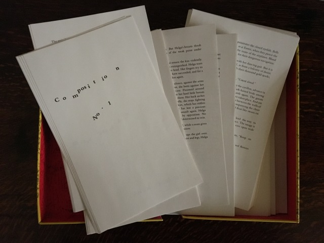 Marc Saporta Composition No. 1 Translated by Richard Howard Visual Editions (2011)