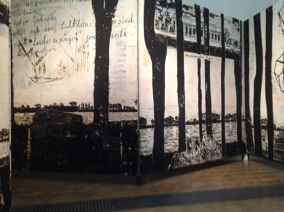 Anselm Kiefer, The Rhine 1982-2013 Collages of woodcuts on canvas with acrylic and shellac in a leporello structure