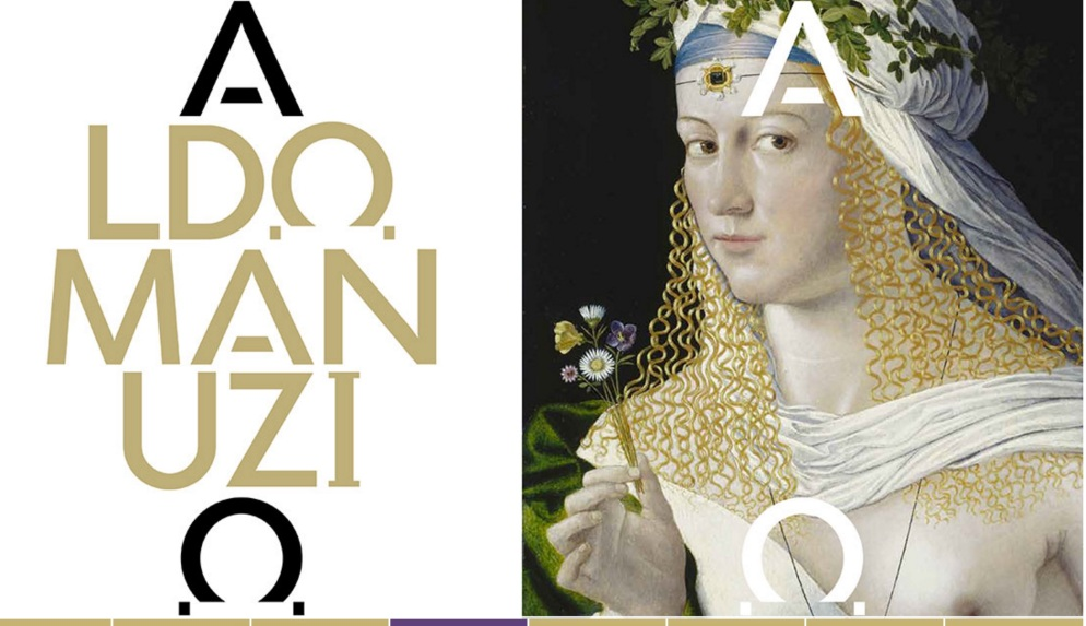 Aldo Manutius: The Renaissance in Venice http://www.mostraaldomanuzio.it/exhibition Exhibition poster containing detail of 'Portrait of a Woman as Flora' (c1520), by Bartolomeo Veneto © Eton College