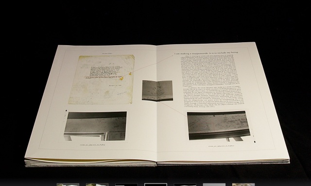 Rutherford Witthus 28 Fort Square: What Charles Olson wrote on the window casings of his apartment in Gloucester, Massachusetts Artist book Edition of 11 42 x 28 x 2.5 cm 2014