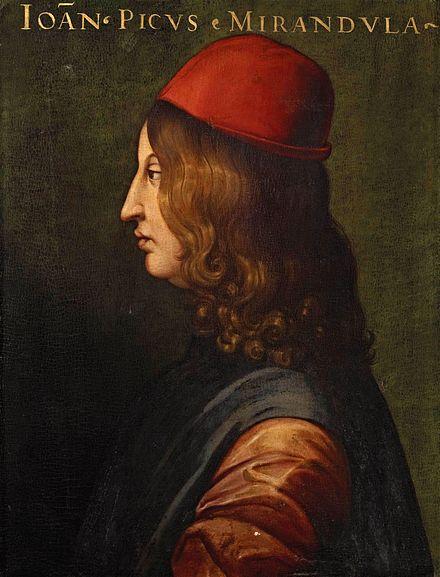 Giovanni Pico della Miradola, 1463-1494 Uffizi Gallery, Florence