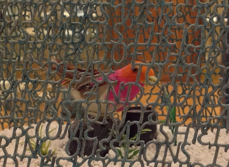 Detail. Xu Bing Bird Language, 2003