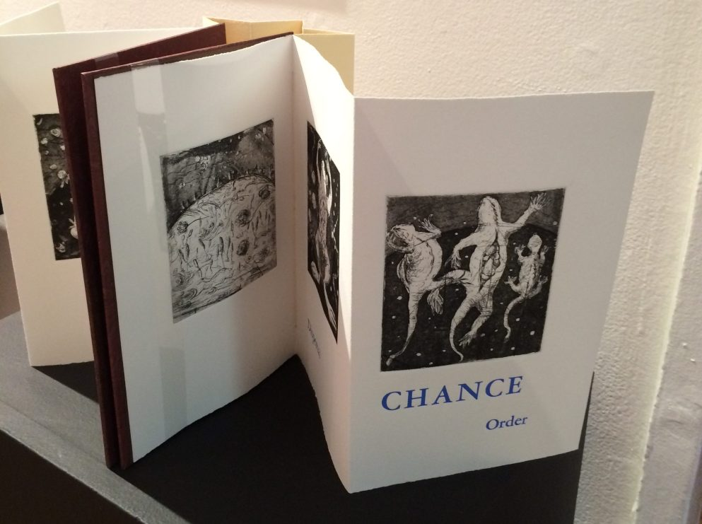 Artist: Diane Stemper Universal Sample (2014) Edition of 4, Intaglio and letterpress on Arches