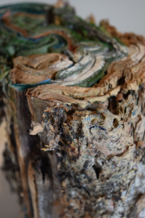 "Whorl. Transformed Book Sculpture Detail 2014. Part of an Ongoing Project H11.5"" x W7.5"" x D8"" Photo Documentation: Jacqueline Rush Lee © Copyright jacqueline rush lee 2017."