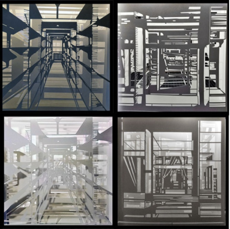 © Colette Fu Different views of a proposed tunnel book, with different lighting and layers.