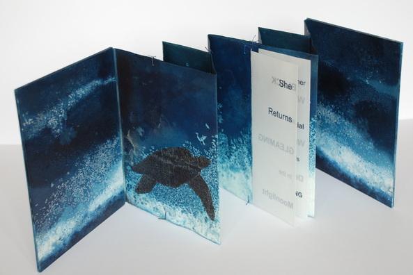 Chris Ruston She Returns (2011) Ink, Watercolour Paper, Concertina Fold, 23.5cm x 18.5cm, Edition of 2