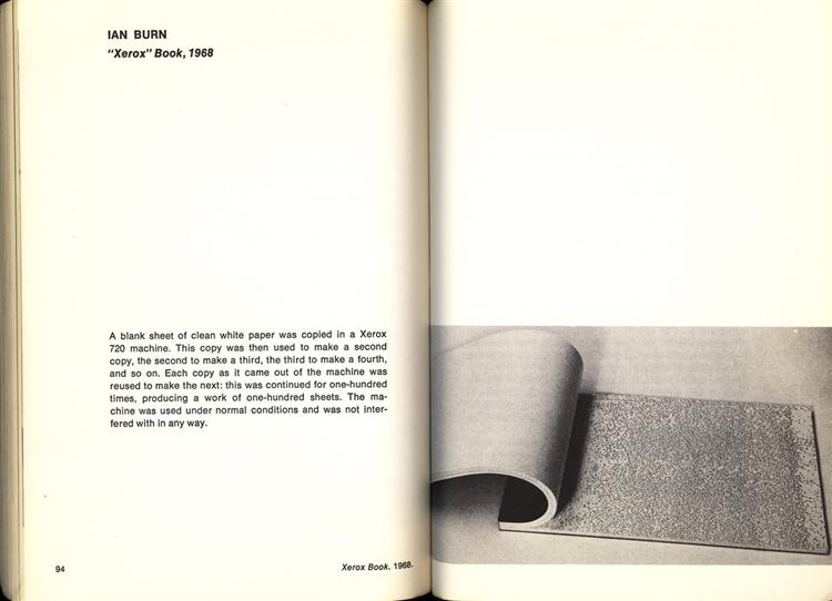 Books on books curated by robert bolick xerox book 1968 ian burn fandeluxe Images